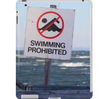 Swimming Prohibited iPad Case/Skin