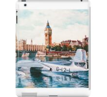 Flying Boat on the Thames iPad Case/Skin