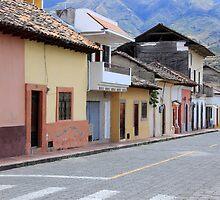Street in Cotacachi by rhamm