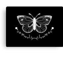 Butterfly Black Canvas Print