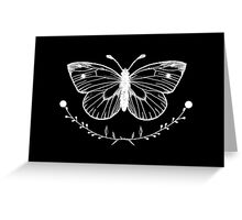Butterfly Black Greeting Card