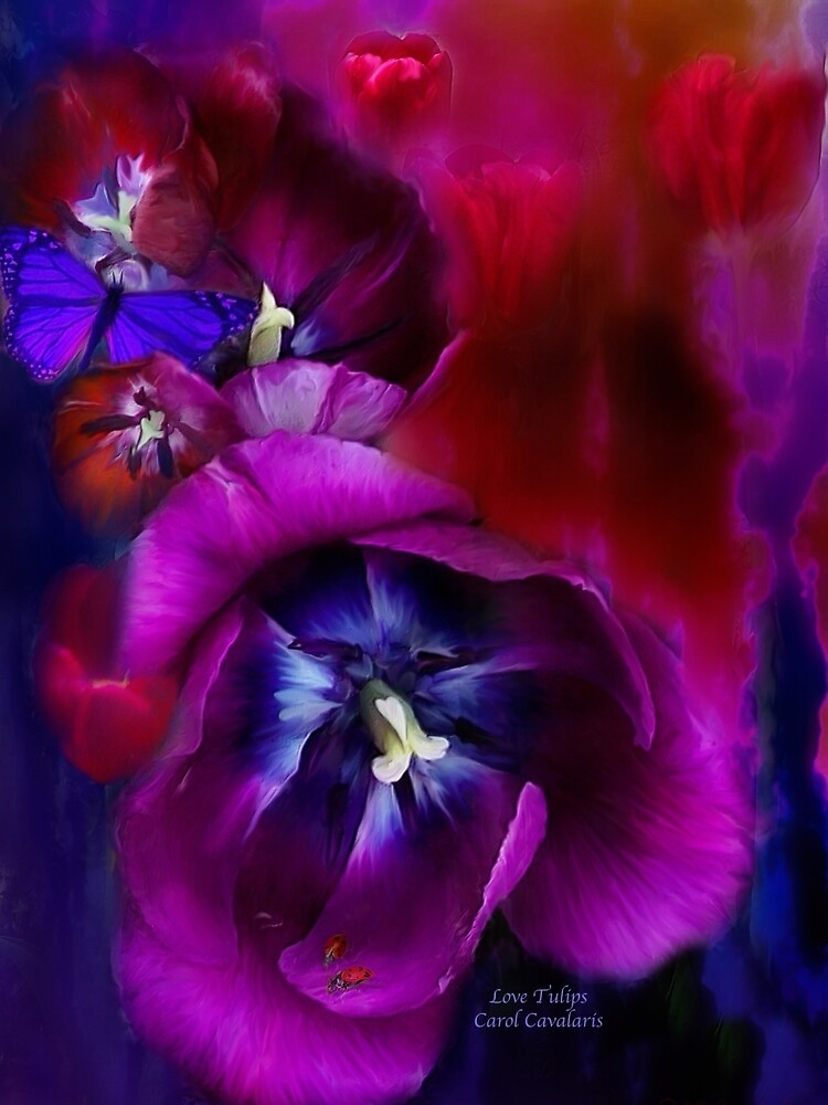 Love Tulips by Carol  Cavalaris