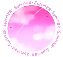 Pink Summer Sky by Hella  Saiko Shop