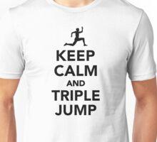 Keep calm and triple jump Unisex T-Shirt