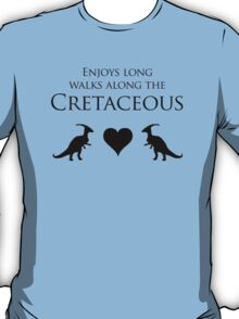 Enjoys Long Walks Along The Cretaceous T-Shirt