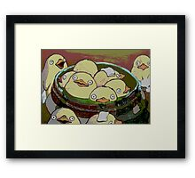 Spirit Ducks? or Chickens? Framed Print