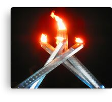 2010 Olympic Flame Canvas Print