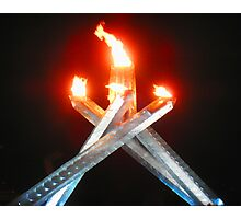 2010 Olympic Flame Photographic Print
