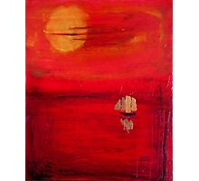 Red tranquility Photographic Print