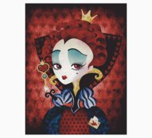 Queen of Hearts T-shirt (w/background) Kids Clothes