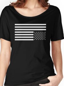 White on Black Women's Relaxed Fit T-Shirt
