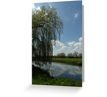 Weeping Willow Over the River Greeting Card