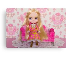Alice relaxing on the Chaise Longue Canvas Print