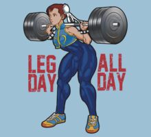 Chun Li - Leg Day All Day by ronin47design