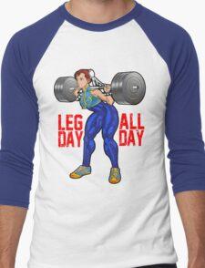 Chun Li - Leg Day All Day Men's Baseball ¾ T-Shirt
