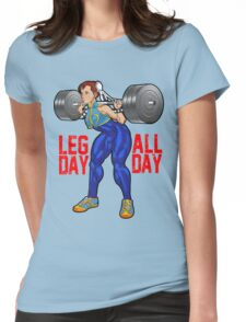 Chun Li - Leg Day All Day Womens Fitted T-Shirt