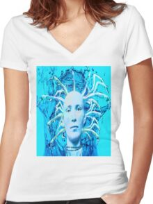 Blue Scorpion Women's Fitted V-Neck T-Shirt