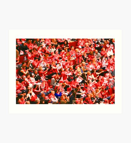 A Sea of Red - Canadian Fans at the 2010 Olympics Art Print