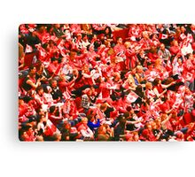 A Sea of Red - Canadian Fans at the 2010 Olympics Canvas Print