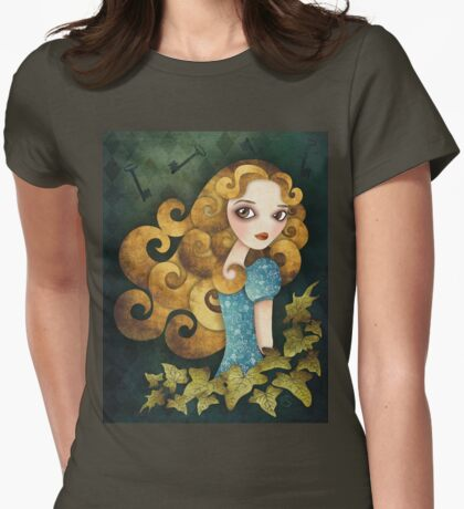 Alice T-shirt (w/background) Womens Fitted T-Shirt