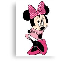 Pink Minnie Mouse Canvas Print