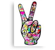 Peace Hippie Victory Fingers Canvas Print