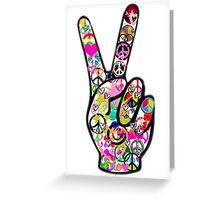 Peace Hippie Victory Fingers Greeting Card
