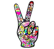 Peace Hippie Victory Fingers Photographic Print