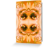 Eyes of a Mirror Greeting Card