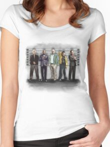 Breaking Bad/ The Usual Suspects (colour) Women's Fitted Scoop T-Shirt