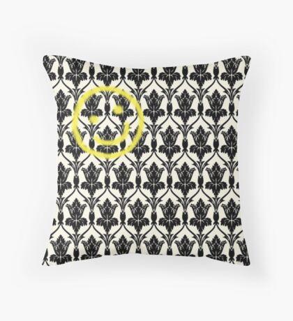 BBC Sherlock 'Bored Smiley Face'  Throw Pillow