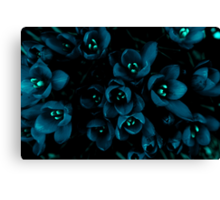 Glow in the night flowers Canvas Print