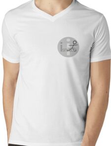 I Snitch small bw Mens V-Neck T-Shirt
