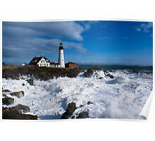 After the Storm - Portland Headlight Poster