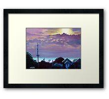 'Sunset over Pamlico Sound' Framed Print