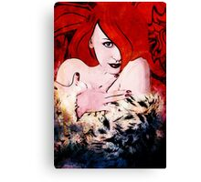 Hot Red Deb Canvas Print