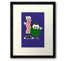 Bacon and avocado geek funny nerd Framed Print
