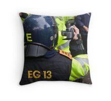 Cops. Camera. Action! Throw Pillow