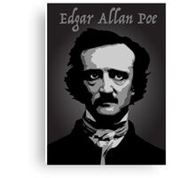 Author Edgar Allan Poe Canvas Print