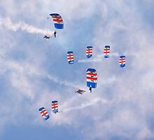 RAF Parachute Display Team, Falcons by Len Slack