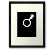 Male Guitarist Symbol Framed Print
