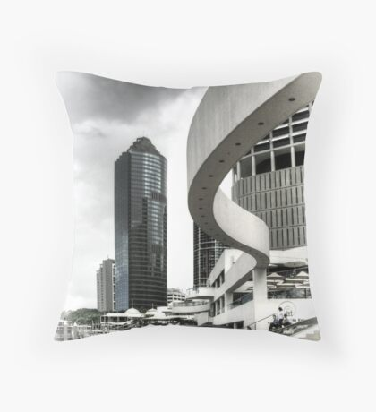 Riverside Architecture, Brisbane, Australia Throw Pillow