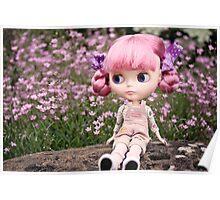 Summer Blythe in the garden - landscape version Poster