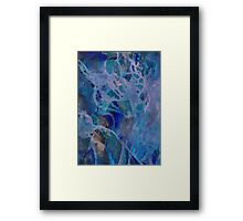 Primordial blue therapy Framed Print