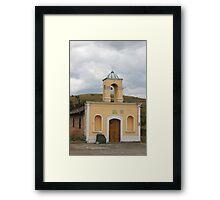Small Church in La Calera Framed Print