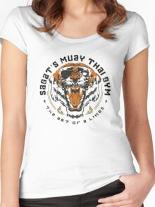 Sagat's Muay Thai Gym Women's Fitted Scoop T-Shirt