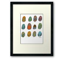 assorted birds Framed Print