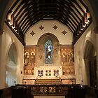 Chancel All Saints Church Waldershare by Dave Godden