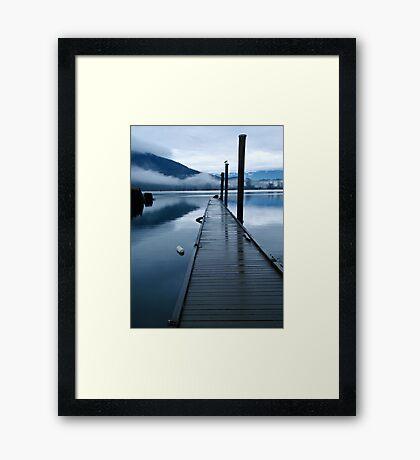 Harrison River Dock Framed Print