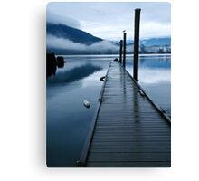 Harrison River Dock Canvas Print